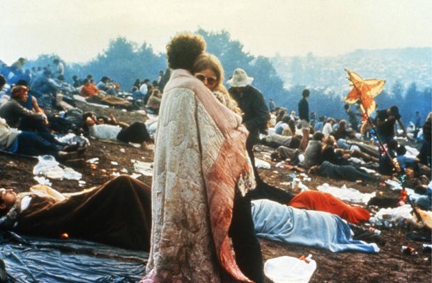 """Dieses Bild wurde zum Sinnbild für """"Woodstock""""."""