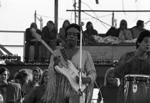 Jimi Hendrix trat am Montag als Festival-Highlight auf.