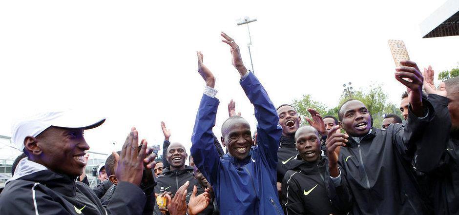 Der Kenianer Eliud Kipchoge möchte in Wien über einen neuen Rekord jubeln.
