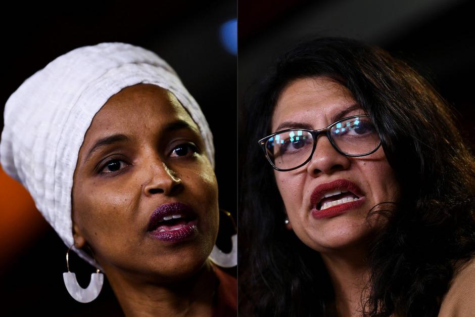 Ilhan Abdullahi Omar (links) und Rashida Tlaib sind die ersten muslimischen Abgeordneten im US-Kongress.