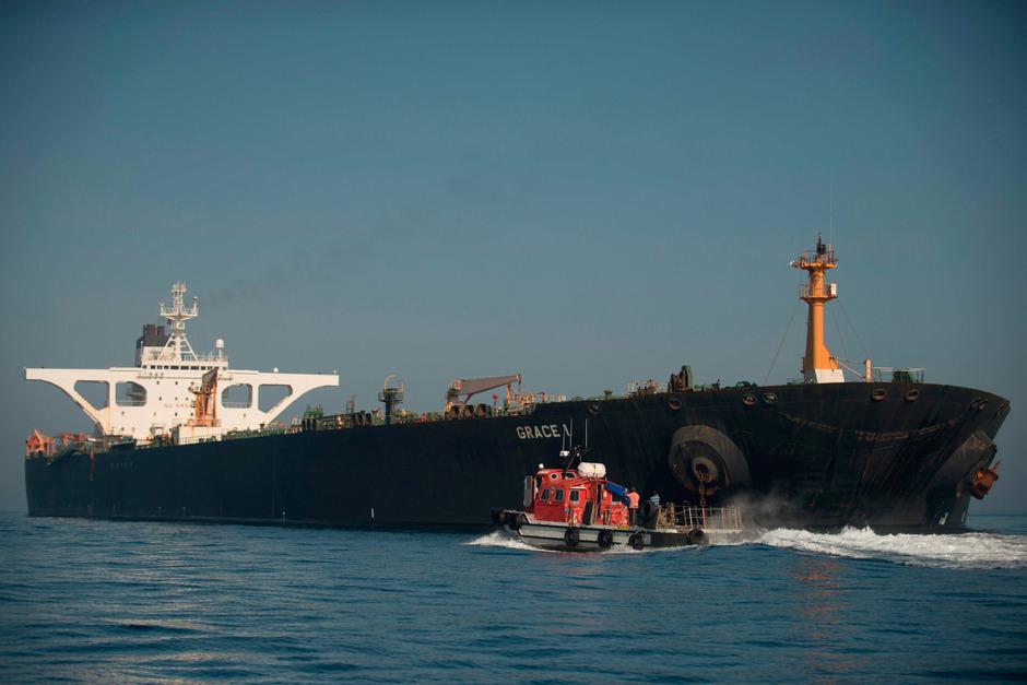 "Der iranische Supertanker ""Grace 1""."