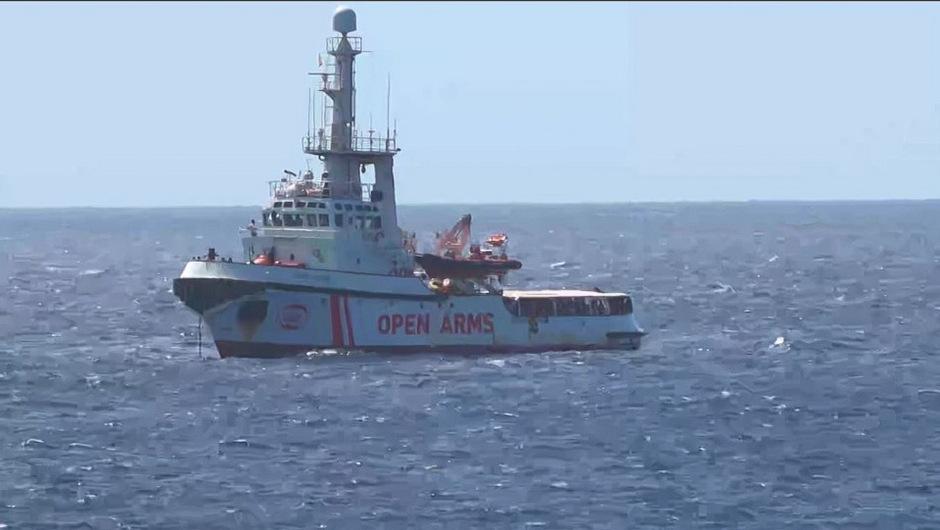 """Das spanische Rettungsschiff """"Open Arms""""."""