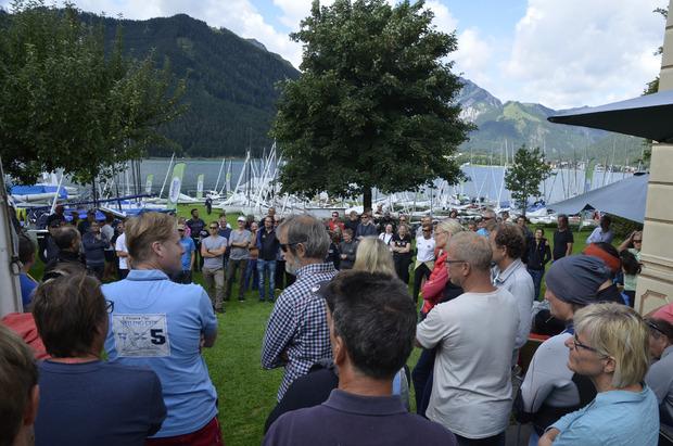 Den 160 Teilnehmern wurde bei der Besprechung vorab eingebleut, keinen Abfall in den See zu werfen.