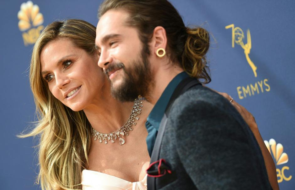 "Heidi Klum und Tom Kaulitz (""Tokio Hotel"")."