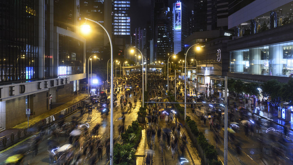 Am Wochenende wurde in Hongkong wieder protestiert.