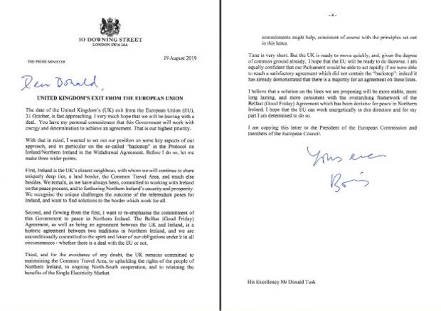 Mit diesem Brief will Boris Johnson die EU-Staats und Regierungschefs von einem Kurswechsel überzeugen.