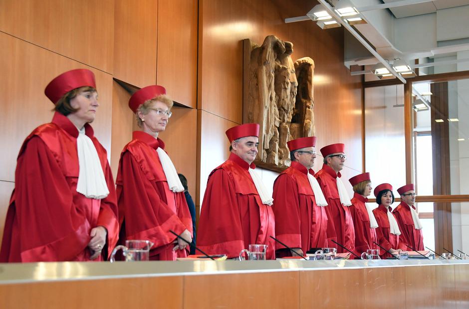 Die Richter des deutschen Verfassungsgerichts (Archivfoto).