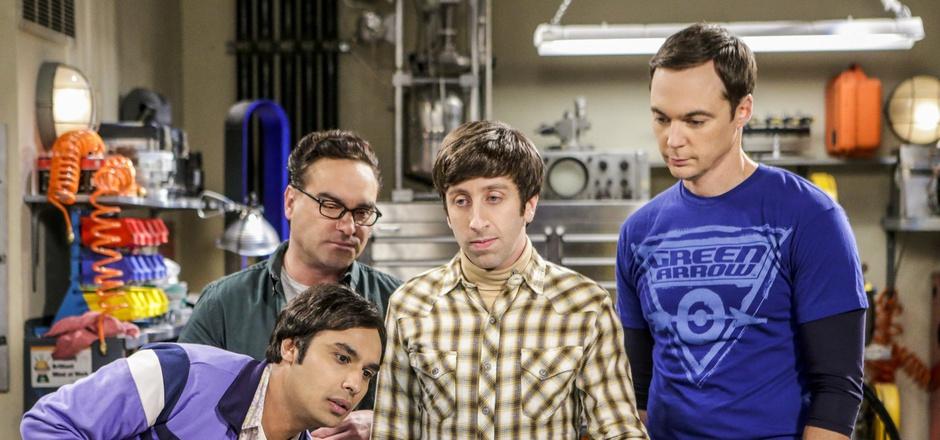 Sheldon Cooper (rechts außen) bekommt eine Videobotschaft seines jüngeren Ichs. (Archivfoto)