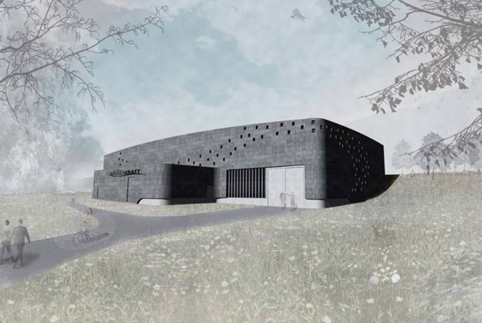 Vorerst nur eine Visualisierung eines Bauwerbers: das geplante Krafthaus in Habichen. Seit zehn Jahren kämpfen die Gemeinden Oetz und Umhausen für und Teile der Bevölkerung gegen das Kraftwerk.