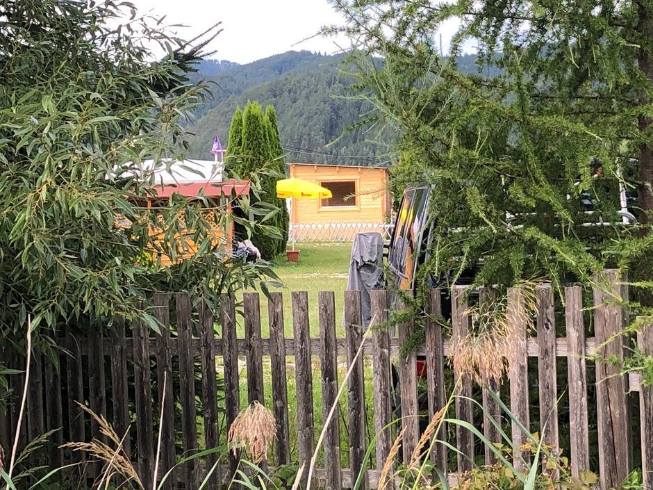 Blick auf den Campingplatz in Neusiedl nahe Pernitz.