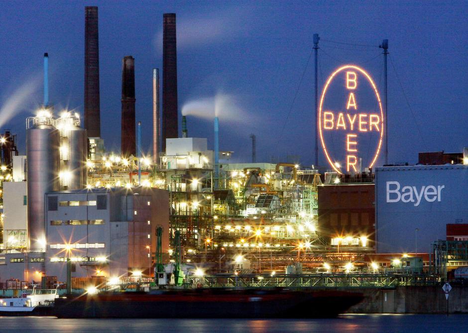 Bayer-Fabrik in Leverkusen.