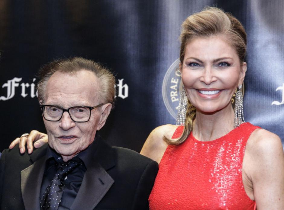 Talkshow-Moderator Larry King (85) und seine siebente Ehefrau, Shawn Southwick King (59).