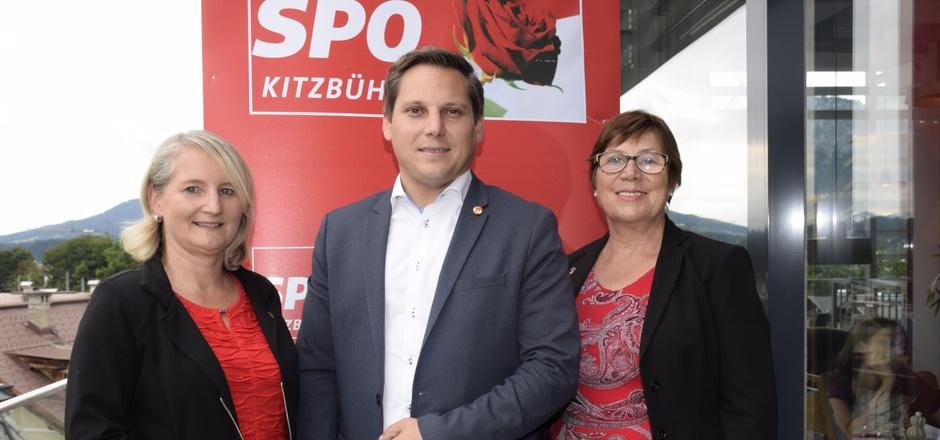 LA Claudia Hagsteiner, NR Christian Kovacevic und Bezirksfrauenvorsitzende Anna Grafoner (v.l.) stellten das SPÖ-Programm vor.