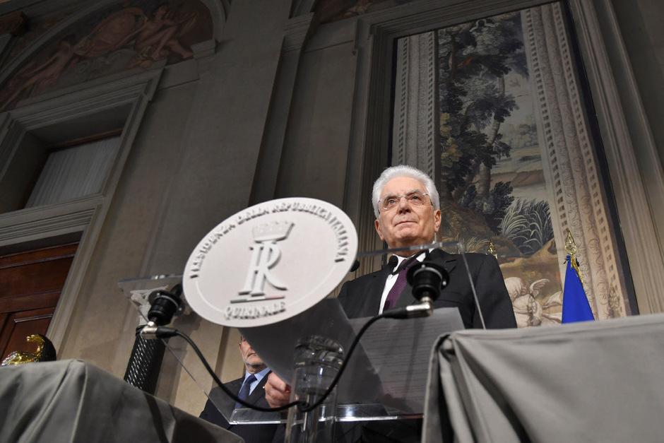 Staatspräsident Sergio Mattarella will bis nächste Woche klären, wie es in Italien weitergeht.