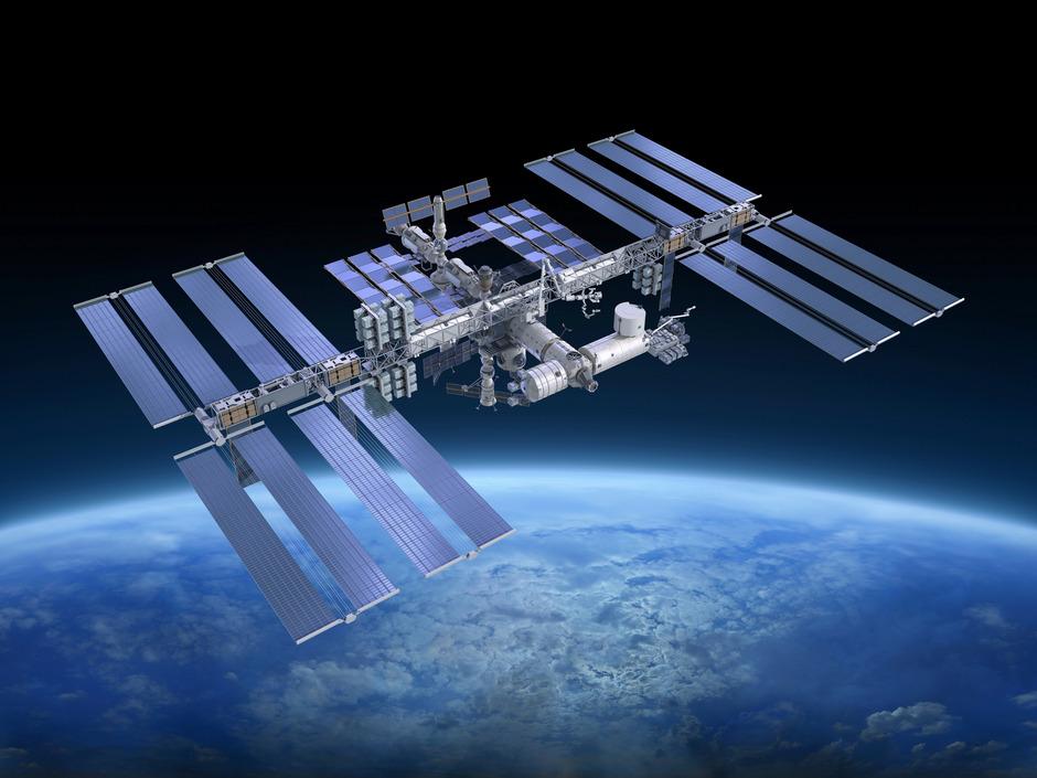 Die internationale Raumstation ISS.