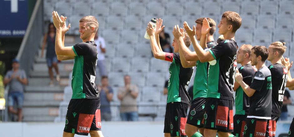 Der FC Wacker ist auch im heutigen Zweitliga-Heimspiel gegen Amstetten auf Siegesjubel eingestellt.
