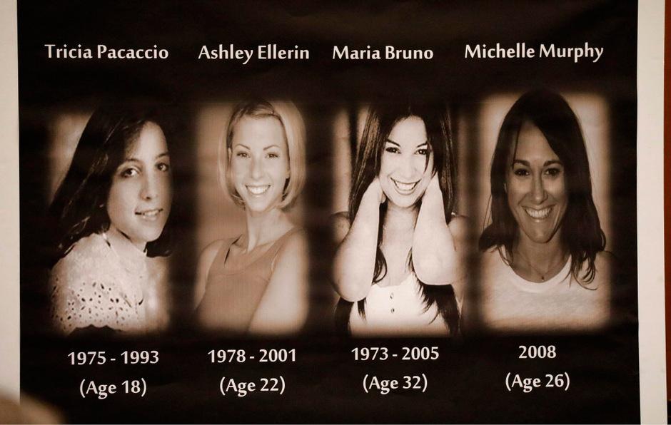 Bei der Eröffnung der Gerichtsverhandlung in Los Angeles wurden Bilder der Opfer gezeigt.