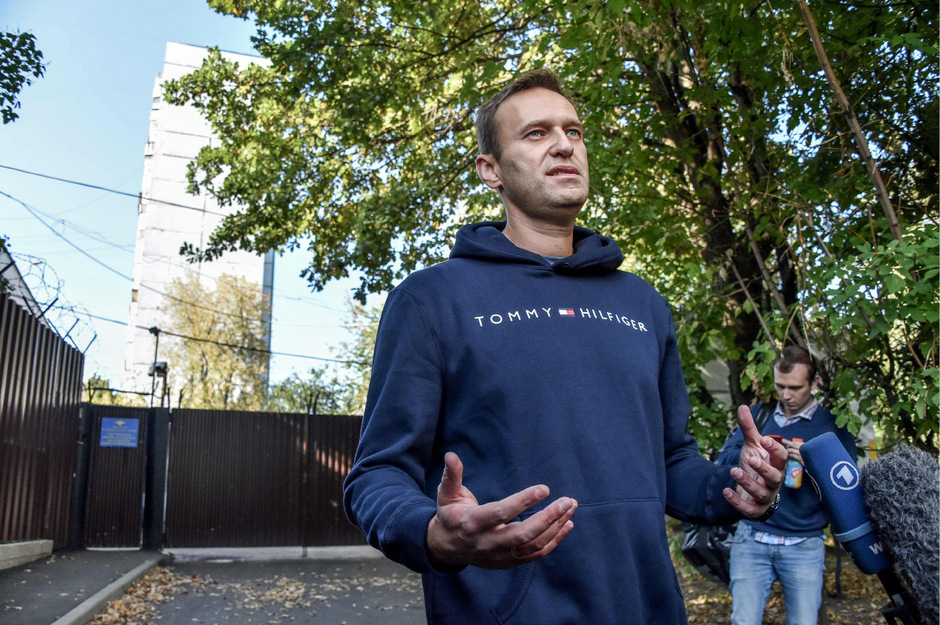 Alexej Nawaly nach der Haftentlassung in Moskau.