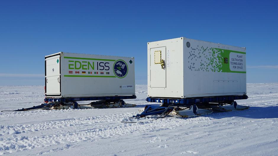 Das Eden-ISS-Gewächshaus versorgte die Crew am Südpol mit frischem Gemüse und Kräutern.