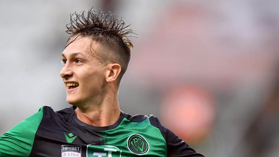 Mit seinem Führungstreffer legte Raphael Gallé den Grundstein für den 2:1-Sieg des FC Wacker.