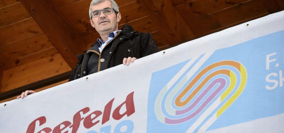 Seefelds Bürgermeister Werner Frießer bei der WM. (Archivfoto)