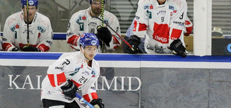 Daniel Wachter war einer der Innsbrucker Torschützen beim 5:2 in Ravensburg am Sonntagabend. Am Freitag geht es in die Schweiz.