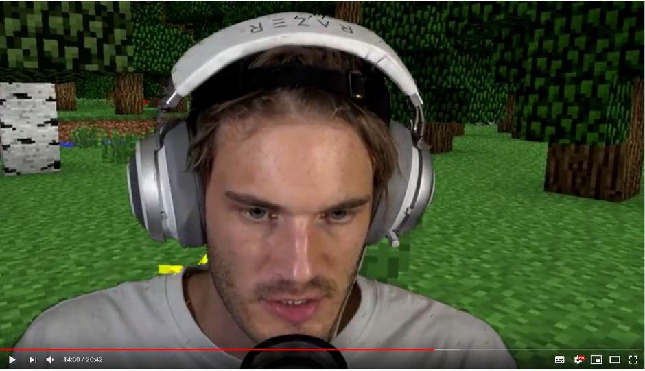 PewDiePie beschäftigt sich zur Zeit mit dem Spiel Minecraft.