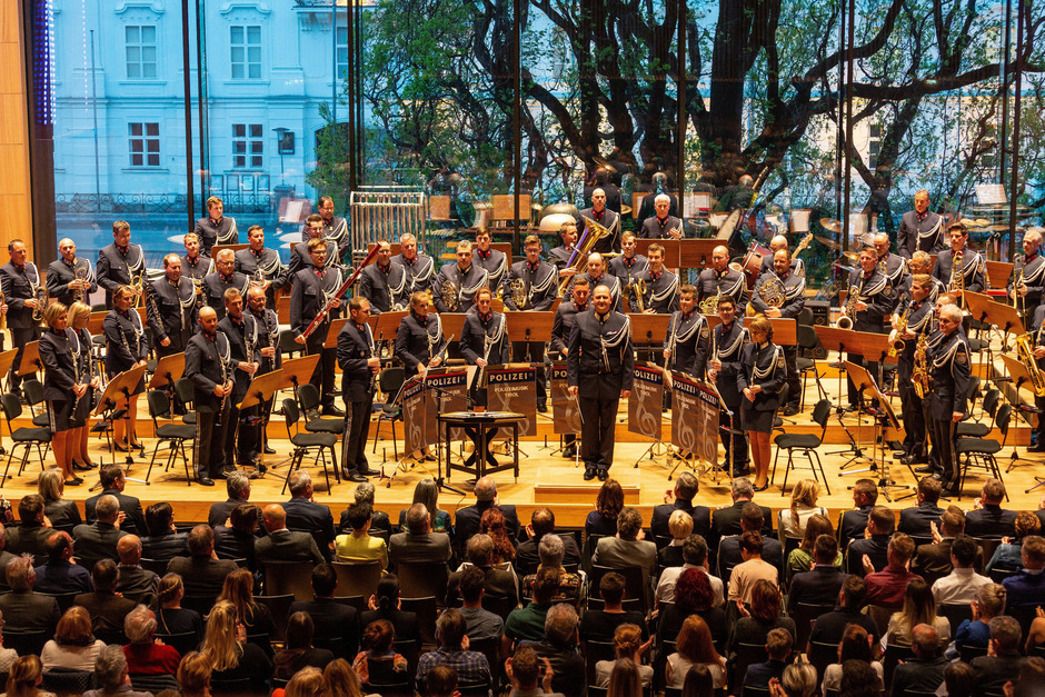 Die Polizeimusik Tirol hofft auch bei ihrem Auftritt in Kals am 4. September auf viel Publikum.