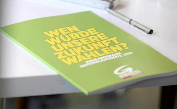 Das grüne Wahlprogramm wurde am Montag präsentiert.