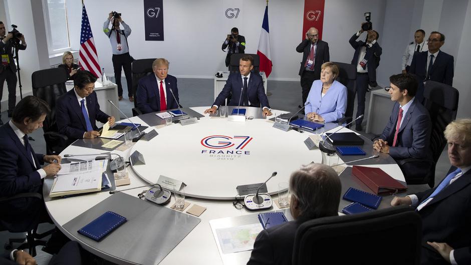 Die Staats- und Regierungschefs der G7-Staaten in Biarritz.