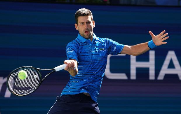 Locker in der zweiten Runde: Weltranglisten-Primus Novak Djokovic.