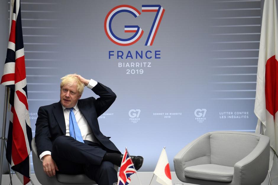 Premierminister Boris Johnson in Biarritz.