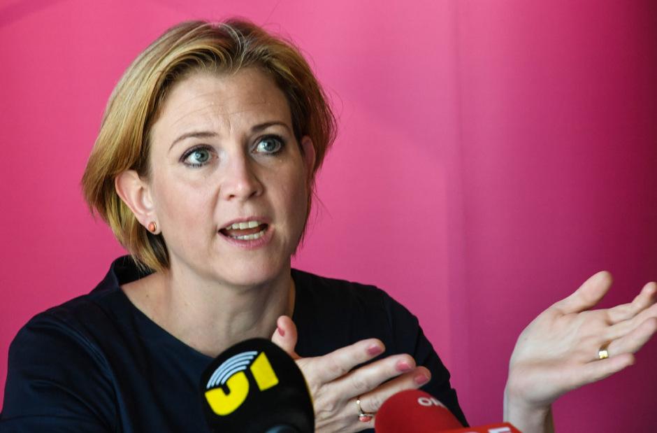 NEOS-Spitzenkandidatin Beate Meinl-Reisinger in Innsbruck.