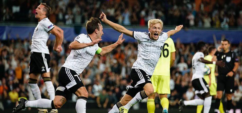 Die Freude von Rosenborg Trondheim nach dem ersten Tor währte nur kurz.