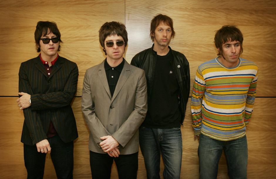Oasis: Das waren Gem, Noel Gallagher, Andy Bell and Liam Gallagher (v.li.)