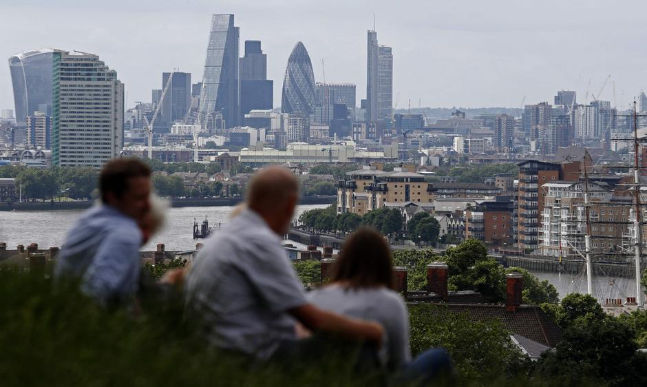 Ein Blick auf die Skyline von London. Viele internationale Banken haben dort ihren Sitz. Die Frage ist aber: wie lange noch.
