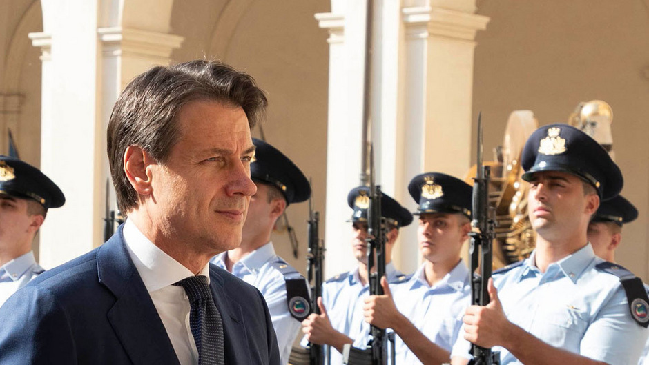 Giuseppe Conte könnte vom scheidenden Premierminister zum neuen Premierminister werden.