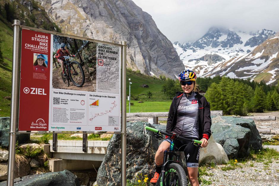 Rad-Weltmeisterin Laura Stigger gibt der Kalser Bikechallenge ihren Namen. Noch bis 12. Oktober läuft der Wettbewerb.