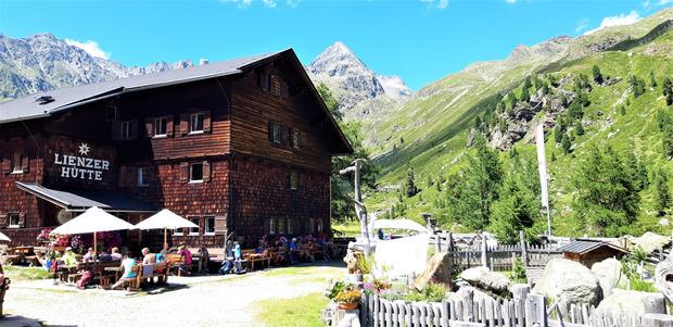 Die Lienzer Hütte.