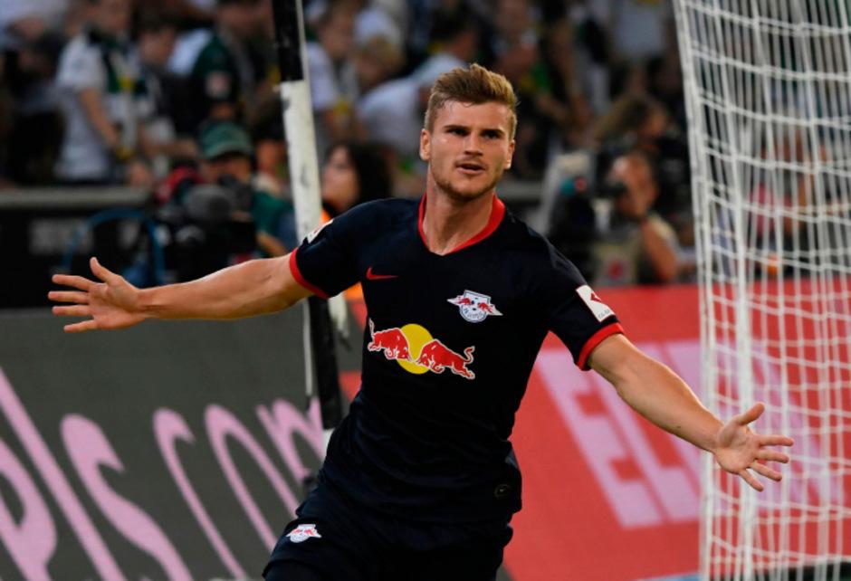Timo Werner erzielte einen Hattrick gegen Mönchengladbach.