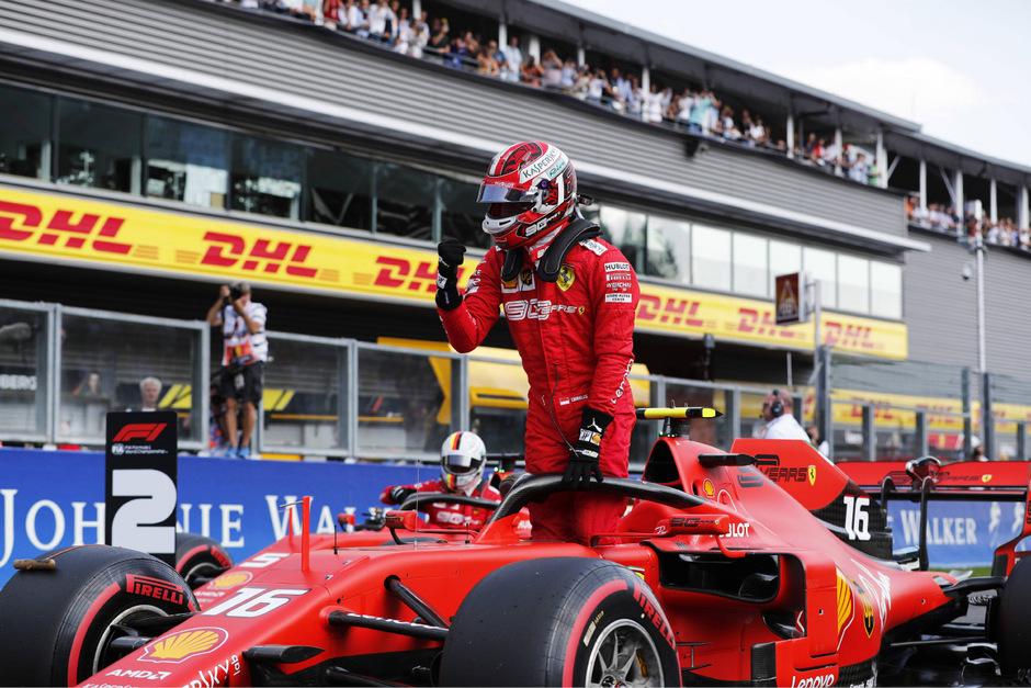 Jubelt über die Spa-Pole: Charles Leclerc.