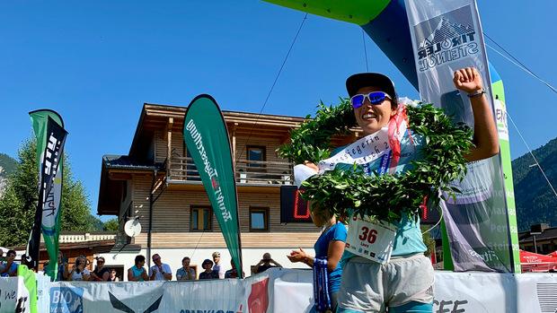 Biathlon-Olympiasiegerin Laura Dahlmeier strahlte nach ihrem Sieg beim Karwendellauf.
