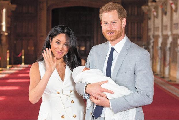 Meghan und Harry mit Baby Archie.