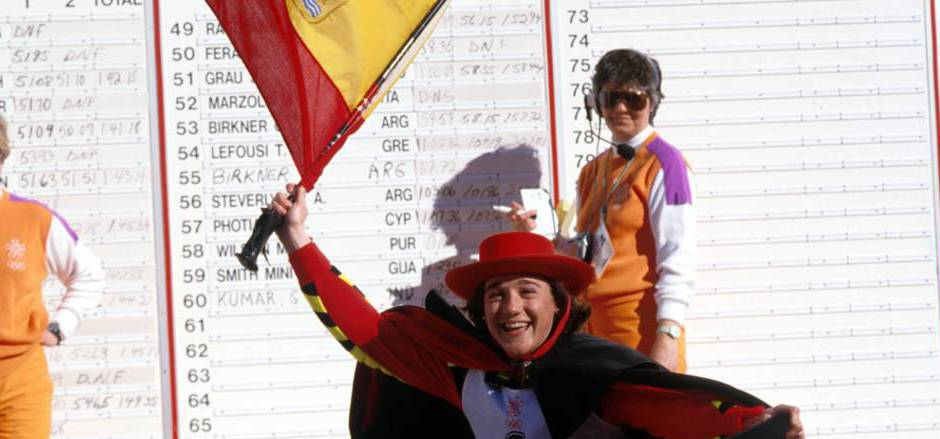 Blanca Fernandez Ochoa überraschte 1992 mit Slalom-Bronze in Albertville.