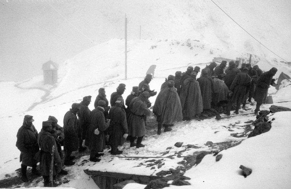 Österreichische Soldaten im Ersten Weltkrieg in den Südalpen. (Archivbild)