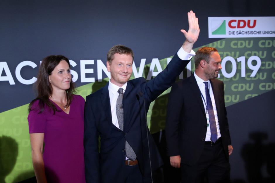 Sachsens Ministerpräsident Michael Kretschmer (CDU) wird wohl im Amt bleiben.