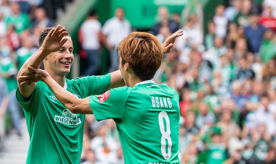 Flanke Friedl, Siegtor Osako - Bremen jubelte erstmals in dieser Saison über drei Punkte.