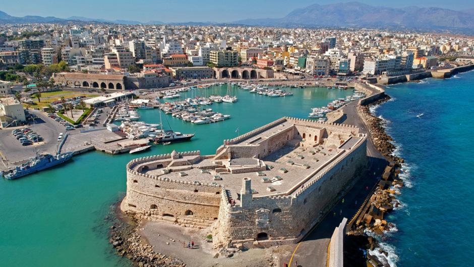 Blick auf Heraklion, die Hauptstadt Kretas.