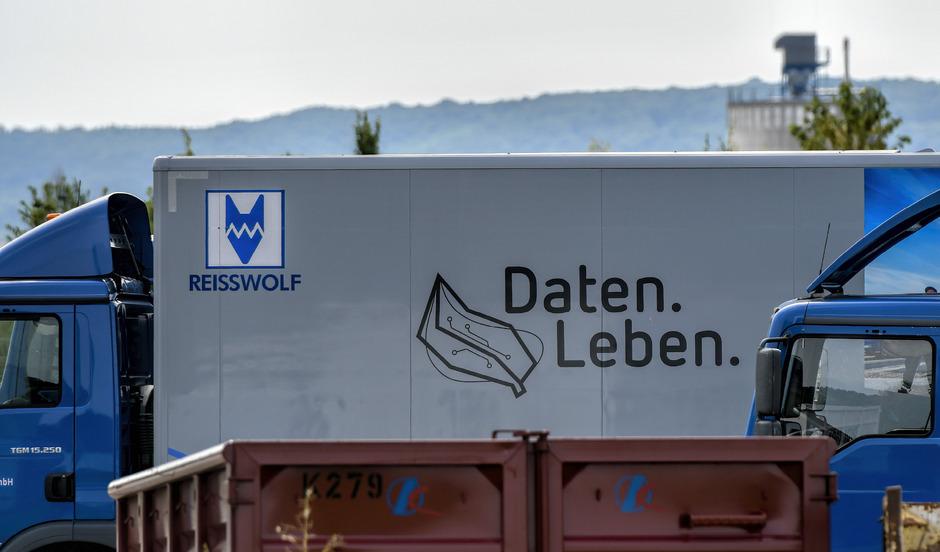 Ein Logo der Firma Reisswolf.