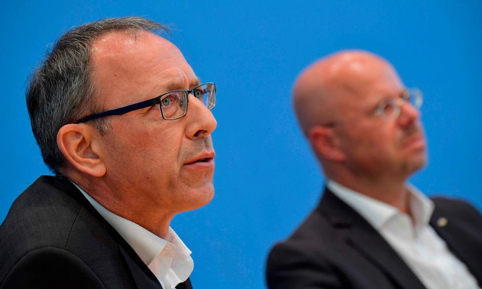 Jörg Urban, AfD-Spitzenkandidat in Sachsen, und Andreas Kalbitz, der die Partei in Brandenburg anführte.